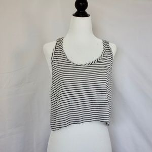 Aritzia Talula Striped Crop Top